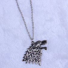 Game Of Thrones A song of ice  Stark Wolf Pendant Necklace - His & Hers Gift UK
