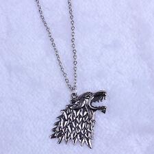 GAME of thrones cronache del ghiaccio STARK Collana Con pendente LUPO-I suoi & LEI regalo UK