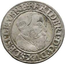 Schlesien Liegnitz Brieg Groschen 1543 Münze Coin (D112)