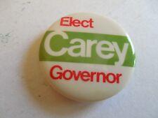 New York Campaign Pin Back Button Local Hugh Carey Governor Political Badge