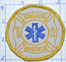 CANADA, BRIGADE URGENCE EMERGENCY MEDICAL PARAMEDIC YELLOW EDGE VINTAGE PATCH