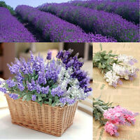 10 Heads Artificial Lavender Silk Flower Bouquet Wedding Home Party Decor Craft