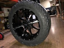 """20x10 Moto Metal MO970 35"""" Fuel MT Wheel and Tire Package 8x6.5 Dodge Ram 2500"""