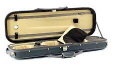 Luxury 4/4 Violin Case Oblong Deep Green/Light Tan with Hydrometer