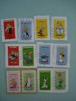 timbres France 2019 oblitérés sur fragments; série Astérix tous timbrés