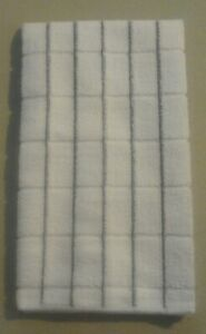 15 X 25 Microfiber Kitchen towel Small Vertical Gray Stripes 264385