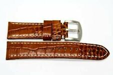 20MM BROWN ALLIGATOR GRAIN GENUINE LEATHER WATCH BAND STRAP FITS FOSSIL