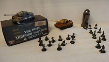 COMPATIBLE HEROSCAPE : LOT DE 2 TANKS TIGRE CORGI + BATAILLON ALLEMAND + USA