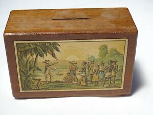 RARE Religious Collection Box Ex Livingston House London Missionary Society