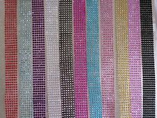 11colors 6cm width diamante diamond Rhinestone Mesh Ribbon Crystal Wrap