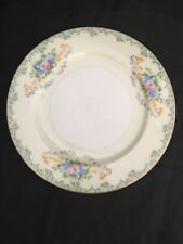 """Vintage Stanley China (Japan) 6 1/2"""" Bread and Butter Plate Green Scrolled Edge"""