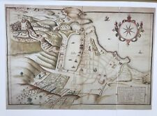 Antique vintage historical map 1600s: Marseille, France 12 X 8 Reprint 1602c