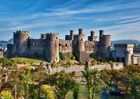 A1 Conway Castle Wales Poster Art Print 60 x 90cm 180gsm Hilltop Fun Gift #16376