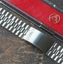 Vintage watch Swiss NSA band 3-row links 18mm 19mm or 20mm NOS 1960s/70s 3 sold