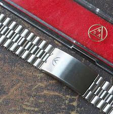 Vintage watch Swiss NSA band 3-row links 18mm 19mm or 20mm NOS 1960s/70s 4 sold