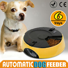Dog Pet Feeder AUTO Cat 6 Meal Food Bowl Dispenser LCD Automatic Program Digital