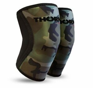 Kniebandage Kniestütze THORN+fit Kompression Sport Bandage Knieschoner PAAR 6mm