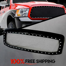 Dodge Ram Rivet Black Stainless Steel Wire Mesh Grille Gloss Black for 06 to 09
