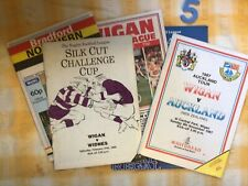More details for 5 vintage early wigan rugby club match programmes