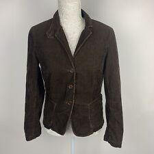 J Crew Corduroy Blazer Womens Medium Cord Lined Button Jacket Brown Boho Coat