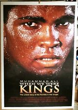 """MUHAMMAD ALI* 'When WE Were KINGS -linen mounted 27 X 41"""" poster"""