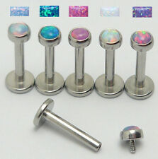 Opal Imitat Stein Lippenpiercing Ohr Labret Ohrstecker Tragus Helix Piercing