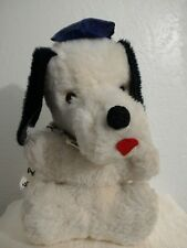 RARE Vintage Plush LA Dodgers Dog White Los Angeles Baseball Souvenir Souvenier
