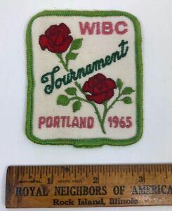 Vintage Mid Century Mad Men Era - WIBC - 1965 Portland Bowling Tournament Patch