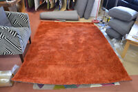 Orange Rug Grand Vista Artificial Fibre Shaggy Extra Large 160cm x 230cm