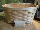 Longaberger 2016 Natural WOVEN Weave BICYCLE Basket w Protector & Flyer Tie On
