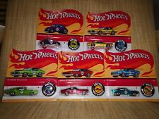 # 1/64 HOT WHEELS - SET 5 PEZZI + SPILLE - 50TH ANNIVERSARY 2018 - MISB #
