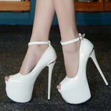 Sexy Womens Open Toe High Heel Sandals Platform Ankle Strap Stiletto Party Shoes