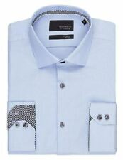 Cotton Big & Tall Textured Single Cuff Formal Shirts for Men