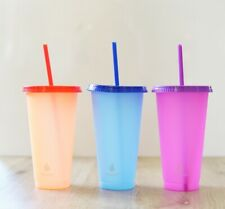 NEW Set Of 3 Manna Color Changing Tumblers Cups