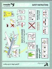 Safety Card - Iran Air - B747 SP  (S3984)
