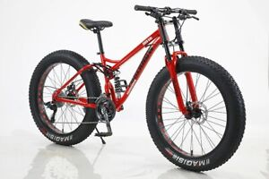New 26 Inch Wheel 27 Speed Adult Mountain Fat Bike With Air Suspension Fork