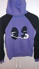 Women's KidRobot  Purple and Black Hoodie Safety Pin M