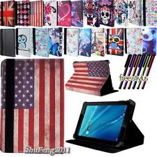 """Folio Stand Leather Cover Case For Various 7"""" 8"""" 9"""" 10"""" Azpen TABLET + STYLUS"""