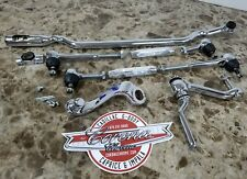 NEW Chrome Steering Linkage Set 55-57 CHEVROLET Bel Air