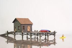 Laser Cut N Scale Dock House/ Fish Market KIT