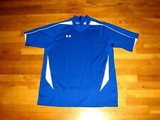 New! Men's Under Armour Shirt Royal Blue White Trimb Short Sleeve Classy Large