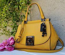 COACH Drifter FLAX Mixed Leather Top Handle Cross Carryall purse satchel 38388