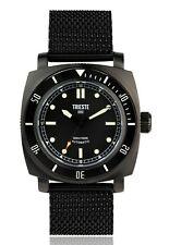 New TRIESTE Deep Sea Matt Black Watch Explorer Steel Mesh  Seiko NH-35A Diver