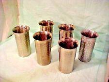 "VINTAGE 6 Everlast Forged Aluminum Tumblers # 987 5 1/4"" T X 3 1/8"" at TOP -NICE"