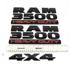3x OEM Black RAM 3500 HEAVY DUTY  Plus 4x4 Dodge Emblem Badge 3D Y3 Mopar Matte
