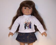 Frozen Characters Tee T-Shirt Jean Skirt Doll Clothes For 18 American Girl (Debs