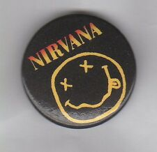 NIRVANA BUTTON BADGE - AMERICAN INDIE ROCK / GRUNGE BAND - KURT COBAIN 25mm PIN
