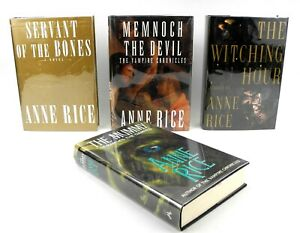 Four Anne Rice Books - Mummy - Witching Hour - Memnoch - Servant - 2 Signed