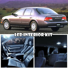 For 94-99 Nissan Maxima Interior LED Light Package Kit Deal Replacement (White)