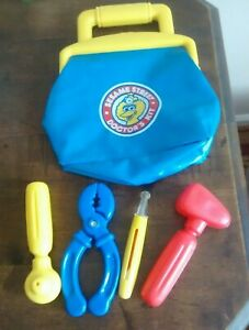 Sesame Street Doctor's Kit 1993 Tyco Vintage Bag Medicine Play Big Bird Vintage
